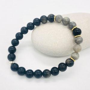 bracelet en obsidienne et labradorite