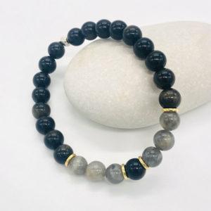 bracelet en obsidienne
