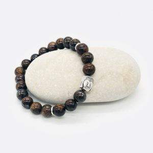 bracelet bronzite bouddha