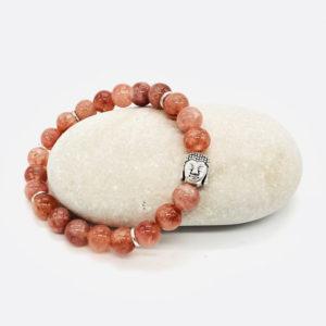 bracelet pierre de lune rosé bouddha