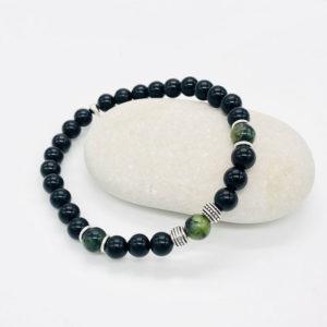 presentation du bracelet obsidienne et jade nephrite